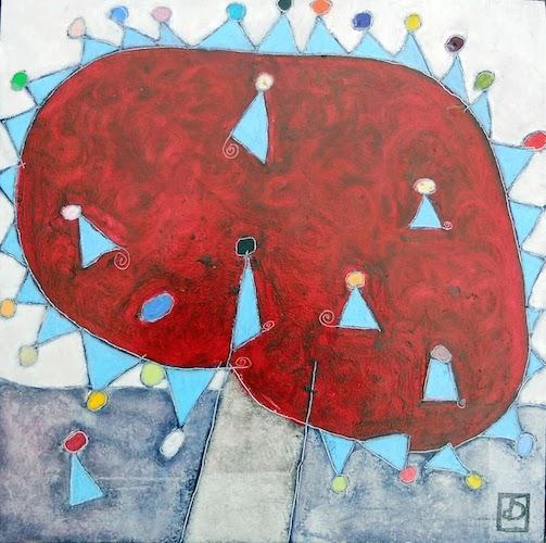 peinture arbre abstrait